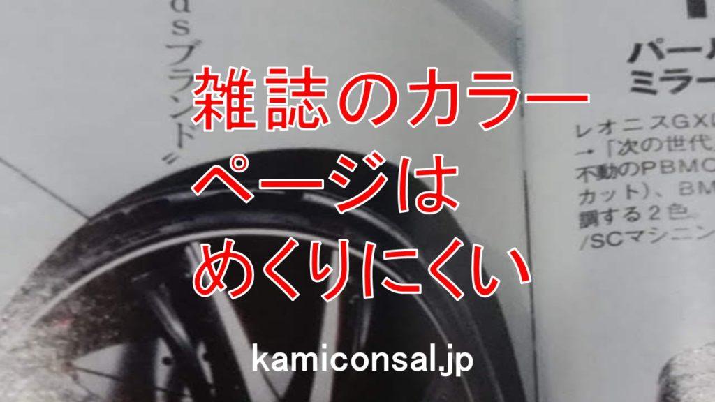 雑誌 カラーページ