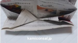 新聞紙 ゴミ箱 折り方