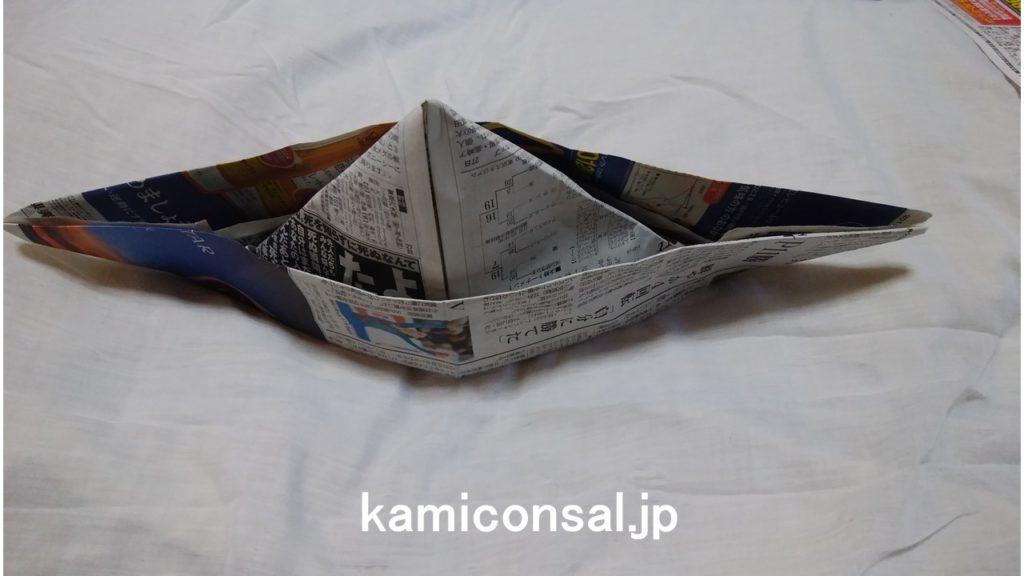 新聞紙 メキシカンハット 完成