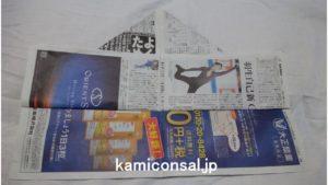 新聞紙 メキシカンハット スルメ2