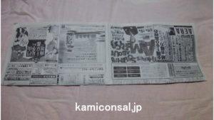 新聞紙 横長