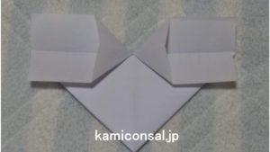 手紙 ハート 袋両側